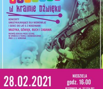 Maluchy w krainie dźwięku - koncert umuzykalniający dla niemowląt i dzieci. Ruda Śląska.