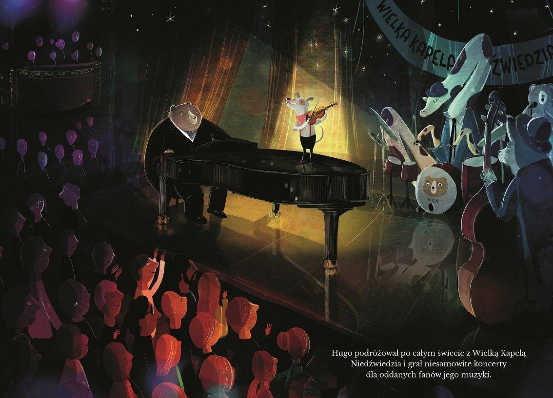 Niedźwiedź, pianino, pies i skrzypce - pięknie ilustrowana książka o przyjaźni