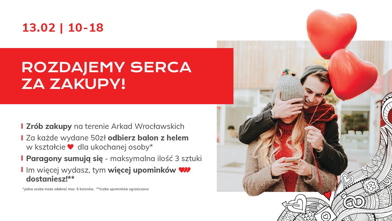 Serca za zakupy w Arkadach Wrocławskich