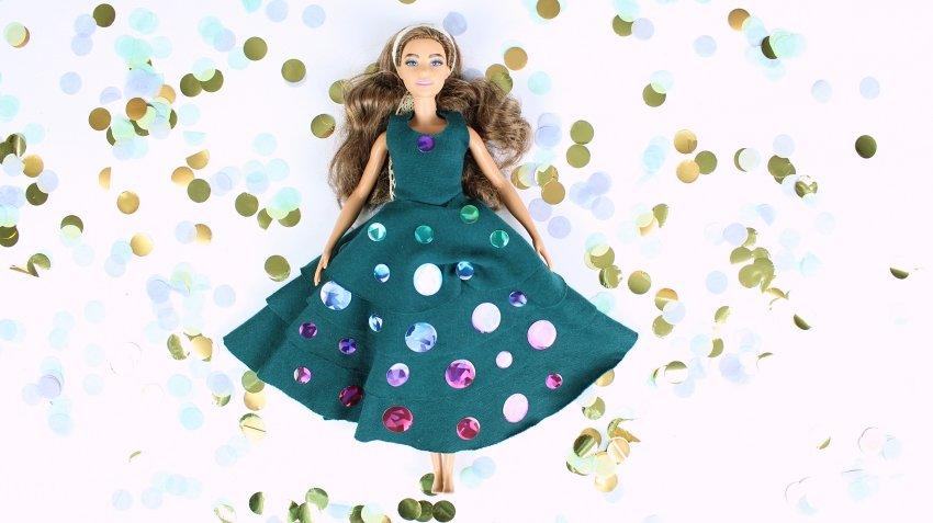 Suknia balowa dla Barbie