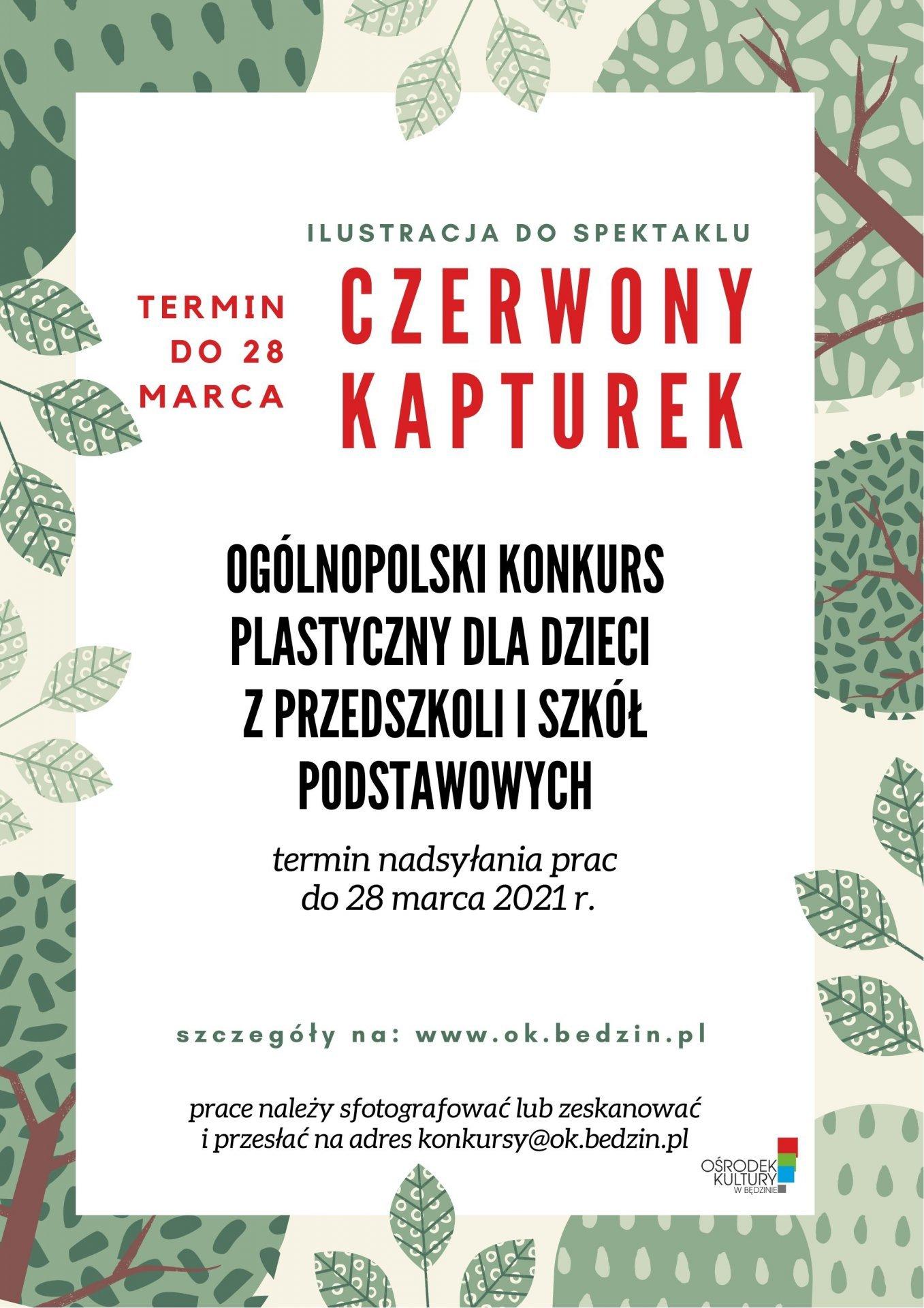 Ogólnopolski Konkurs Plastyczny - Ilustracja do spektaklu: Czerwony Kapturek