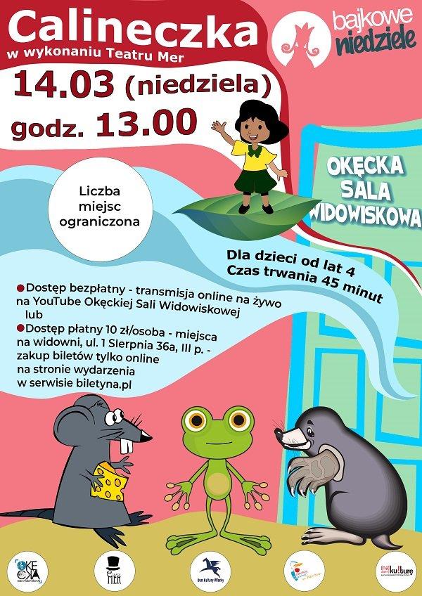 Spektakl dla dzieci Calineczka Teatru Mer z cyklu Bajkowe Niedziele