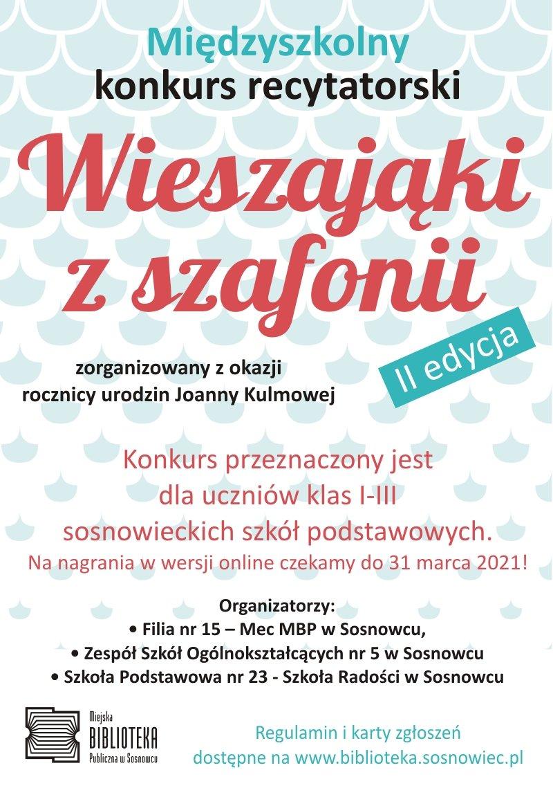 Wieszająki z Szafonii - edycja II – konkurs recytatorski dla dzieci