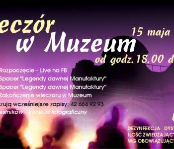 Noc Muzeów 2021 z Muzeum Fabryki