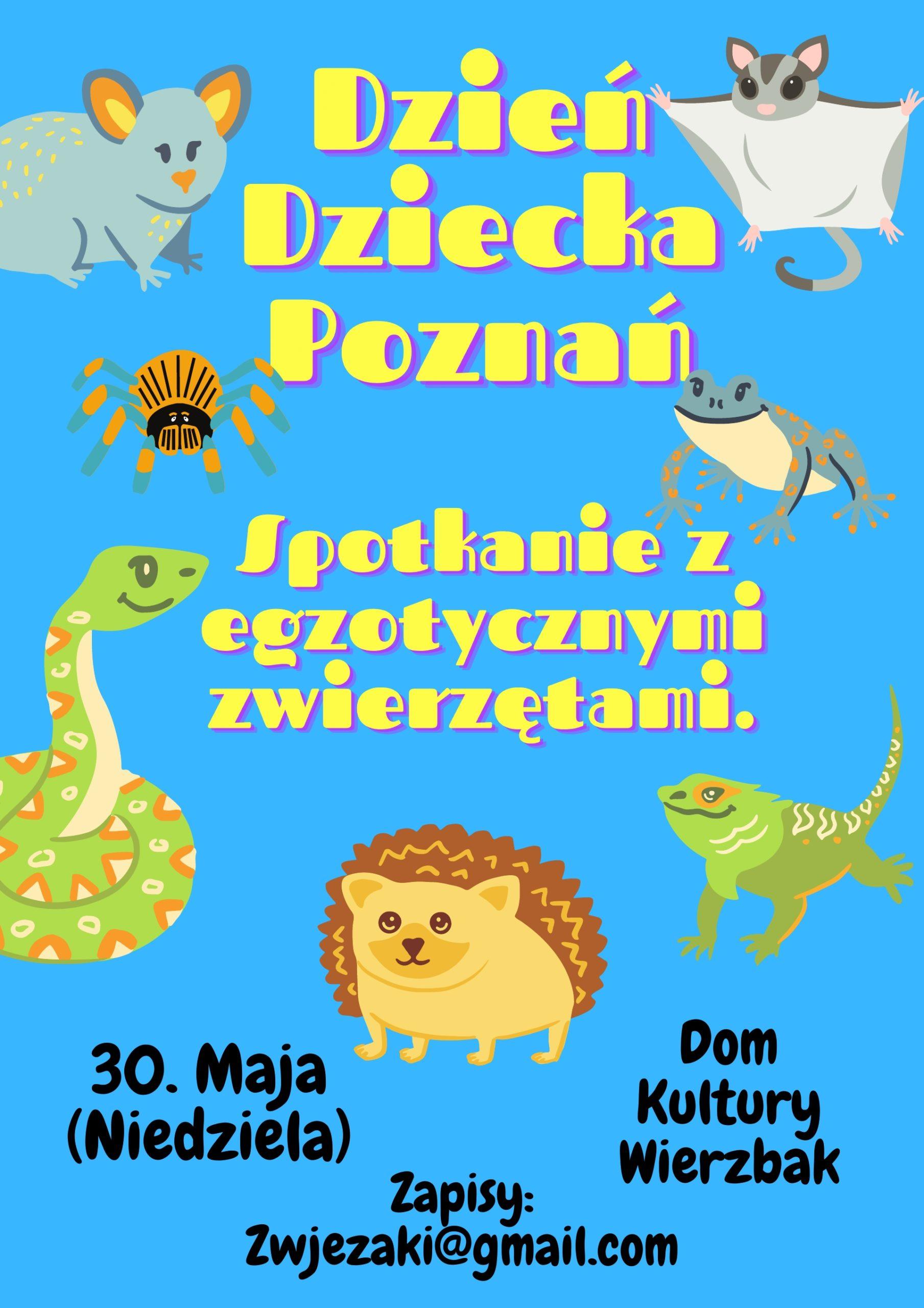Dzień Dziecka w Poznaniu: Spotkanie z Egzotycznymi Zwierzętami