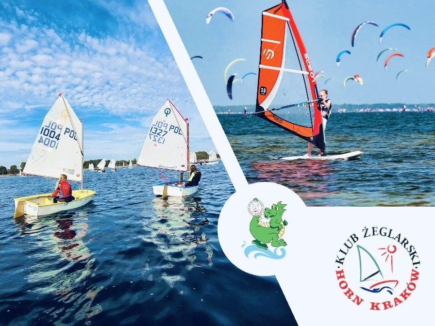 Kolonie dla początkujących małych żeglarzy i windsurfingowców z Hornem!