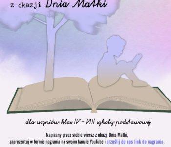 Konkurs literacko-recytatorski z okazji Dnia Matki