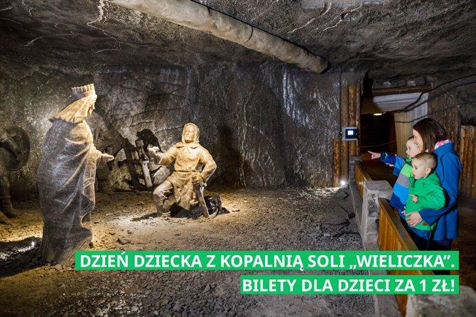 Dzień Dziecka z Kopalnią Soli Wieliczka. Bilety dla dzieci za 1 zł!