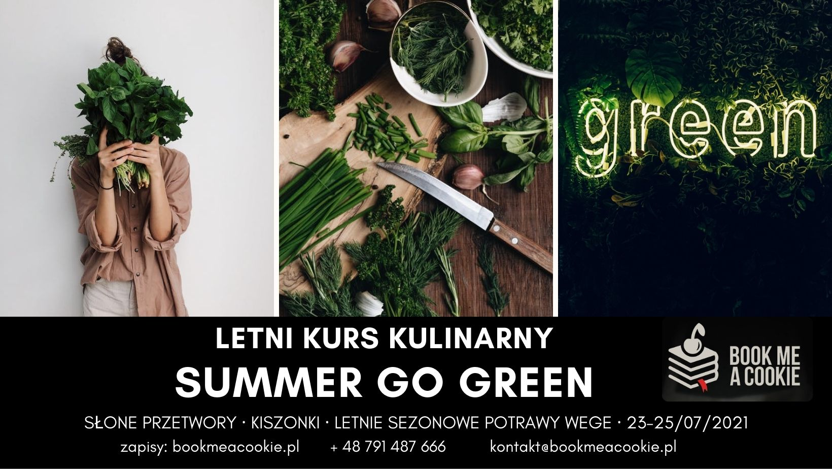 Letni kurs kulinarny: Kiszonki i letnie wege z Book me a cookie