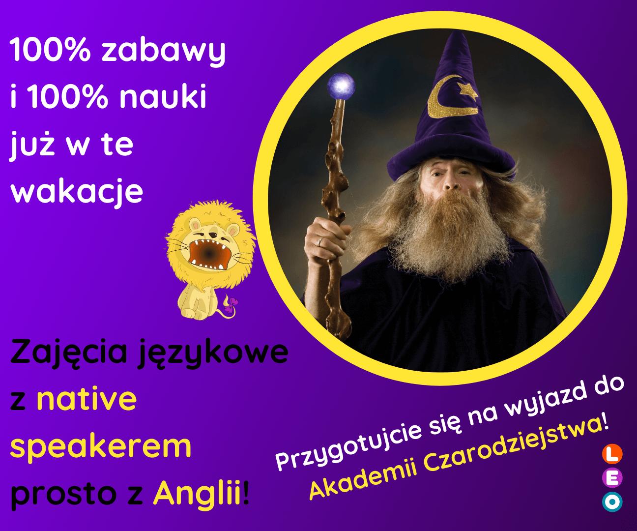 Zajęcia z angielskim native speakerem - Akademia Czarodziejstwa
