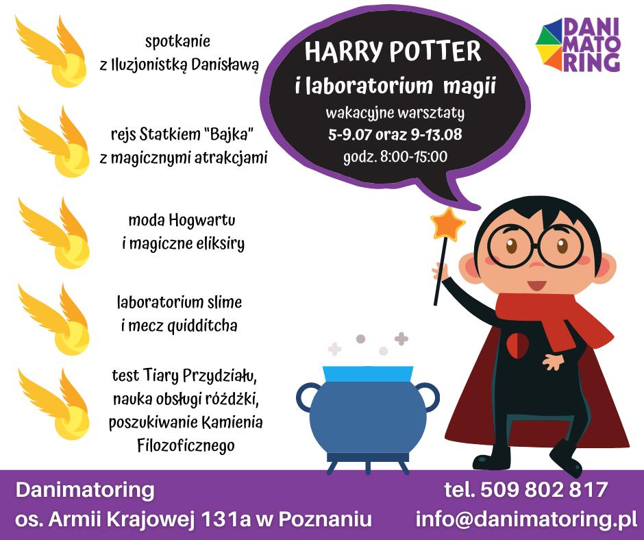 Harry Potter i laboratorium magii - wakacyjne warsztaty tematyczne