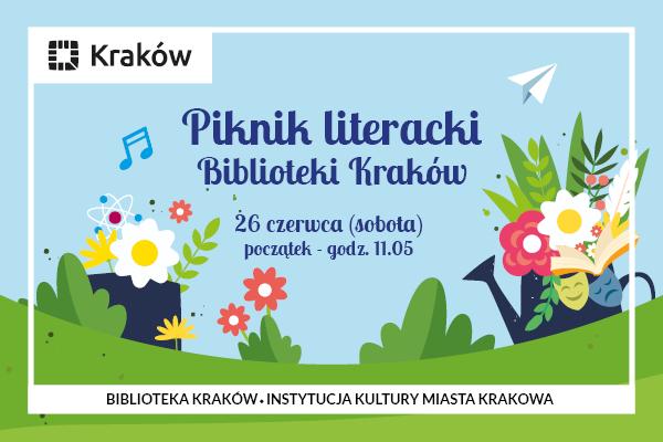 """Biblioteka Kraków zaprasza na """"Piknik literacki"""""""