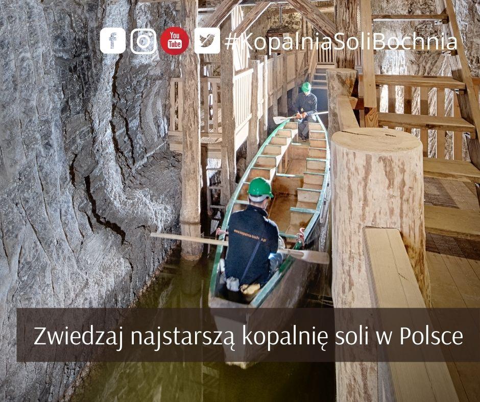 Zwiedzanie najstarszej kopalni soli w Polsce - Kopalni Soli Bochnia