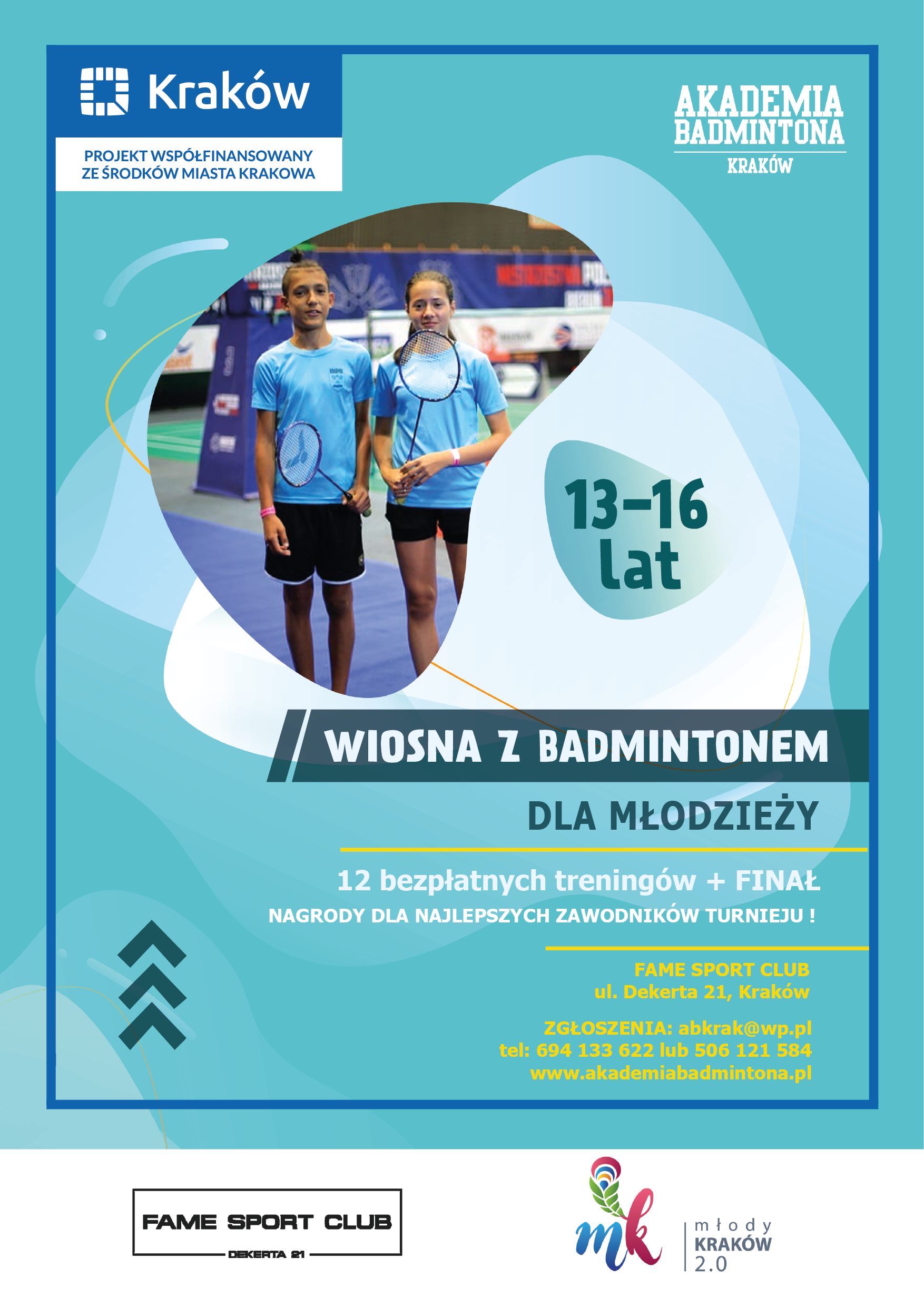 Wiosna z badmintonem dla młodzieży