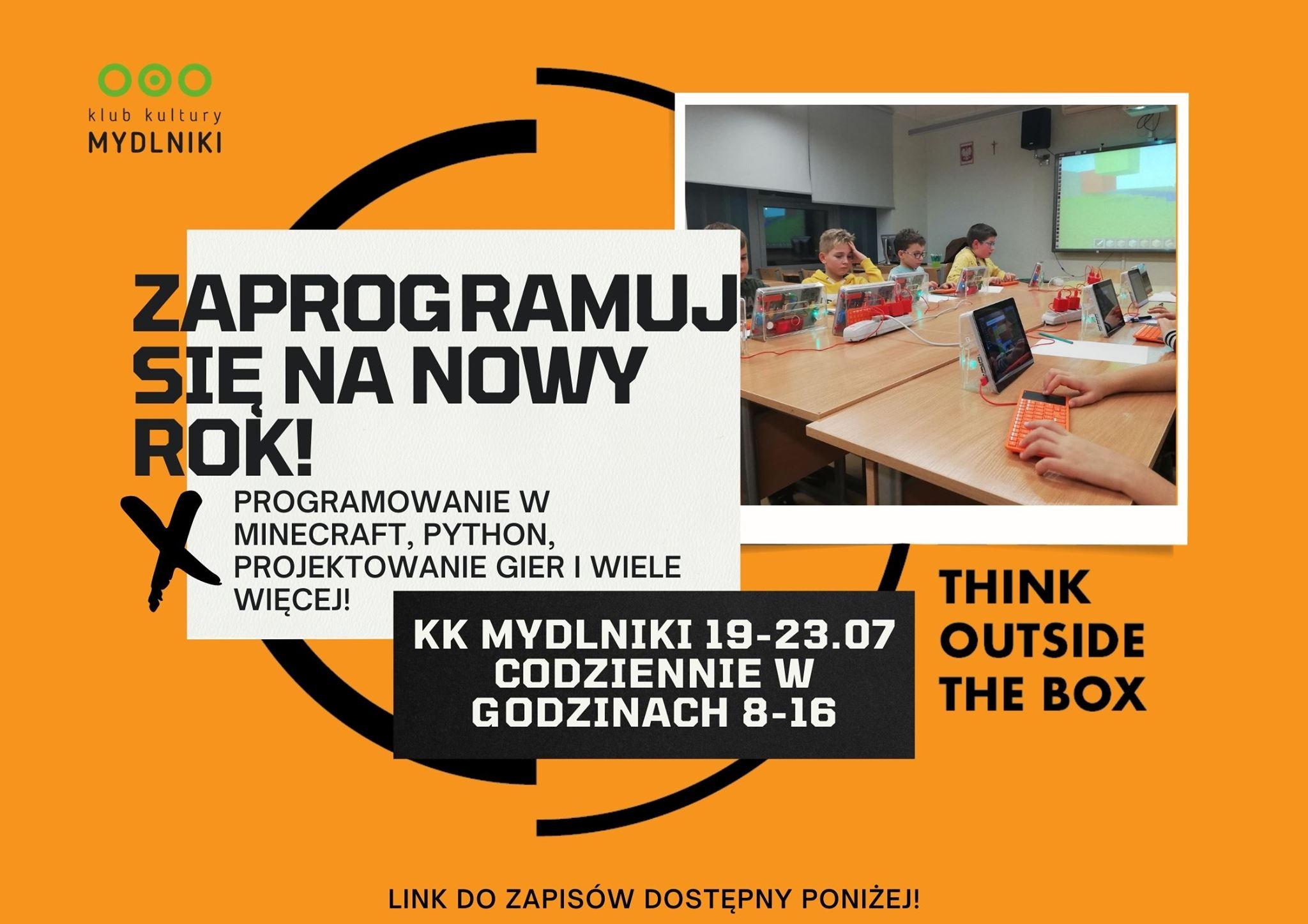 Kurs wakacyjny: ZaproGRAmuj się na nowy rok! KK Mydlniki