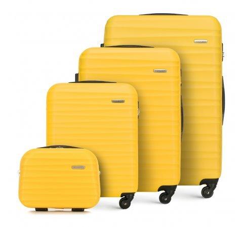 zestaw walizek w zółtym kolorze – WITTCHEN