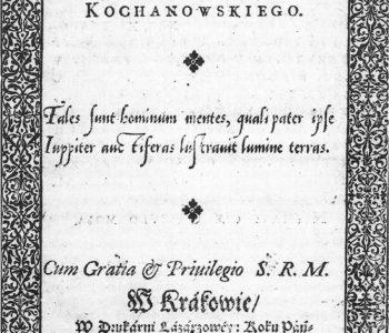 Treny Jana Kochanowskiego