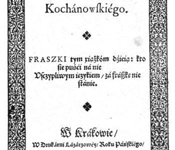 Fraszki Jana Kochanowskiego – quiz