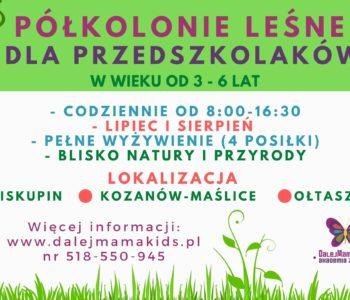 Letnia Przygoda - wakacje dla przedszkolaków w bliskości z naturą!
