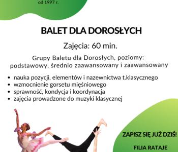 Nabór – Baletowe zajęcia dla dorosłych