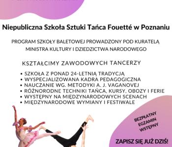 Nabór do Niepublicznej Szkoły Sztuki Tańca Fouetté w Poznaniu