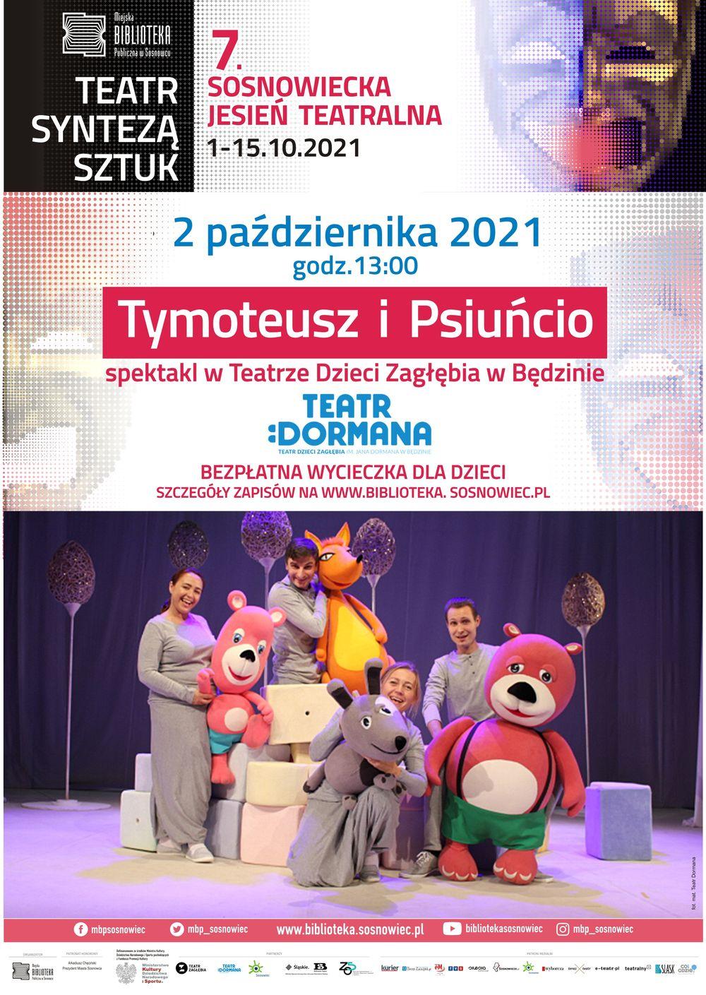 Tymoteusz i Psiuńcio – bezpłatna wycieczka na spektakl dla dzieci. Sosnowiec