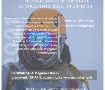 Wykład: Polarniczki – opowieści o uczestniczkach polskich wypraw polarnych