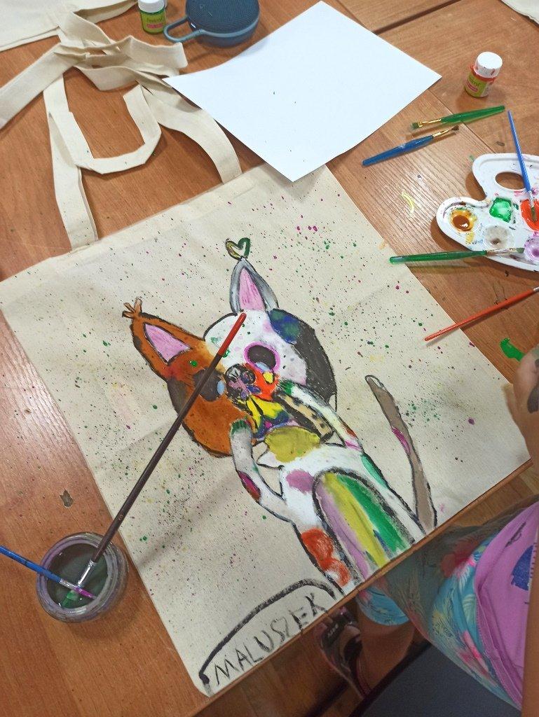 Malowanie na torbach – w ramach cyklu POLANkowe COŚ