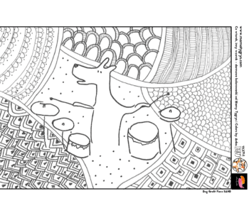 Piesek perkusja kolorowaka do druku, darmowe malowanki