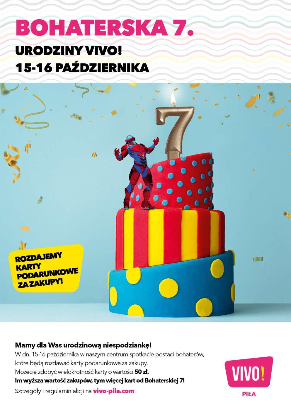 Świętuj 7. urodziny VIVO! Piła z Bohaterską 7
