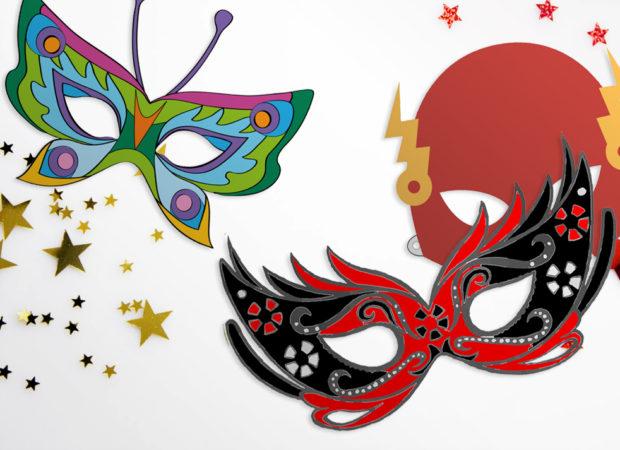 maski karnawałowe do druku, bal dla dzieci w przedszkolu