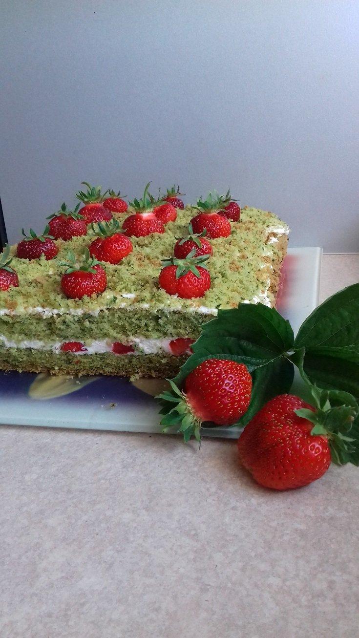 Ciasto truskawkowe pole