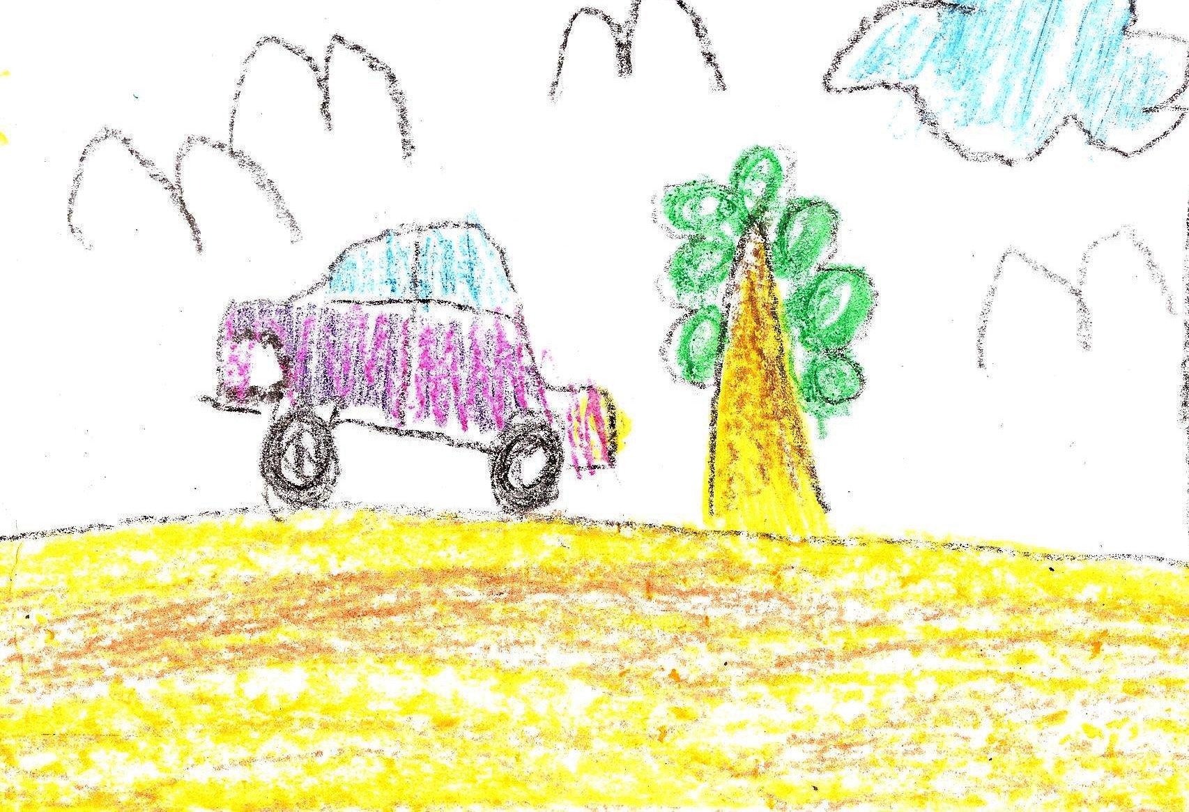 Auto jedzie na drzewo