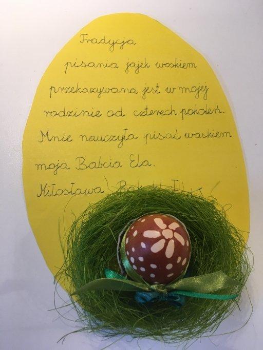 Jajko pisane woskiem przez Miłkę