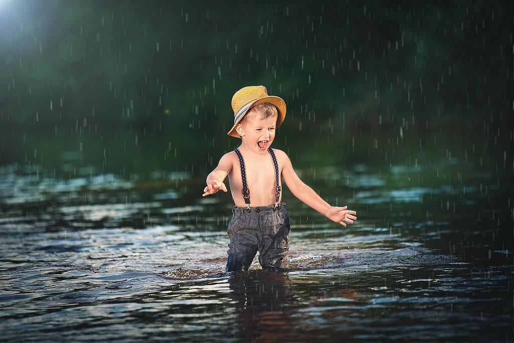 Podczas deszczu...