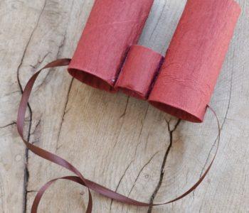Lornetka z rolek po papierze zabawy plastyczne dla dzieci łatwe diy