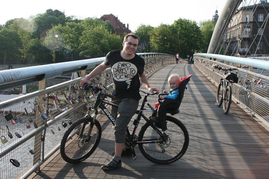 Na rowerze z tatą