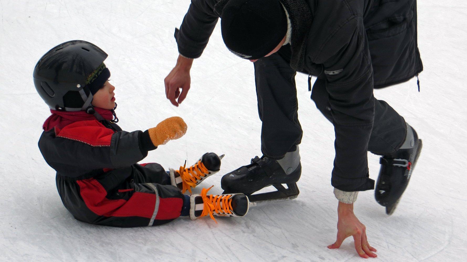 Pierwszy raz na łyżwach