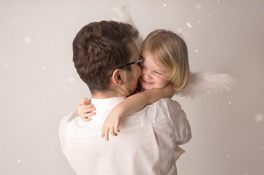 Aniołek Lenka z tatą