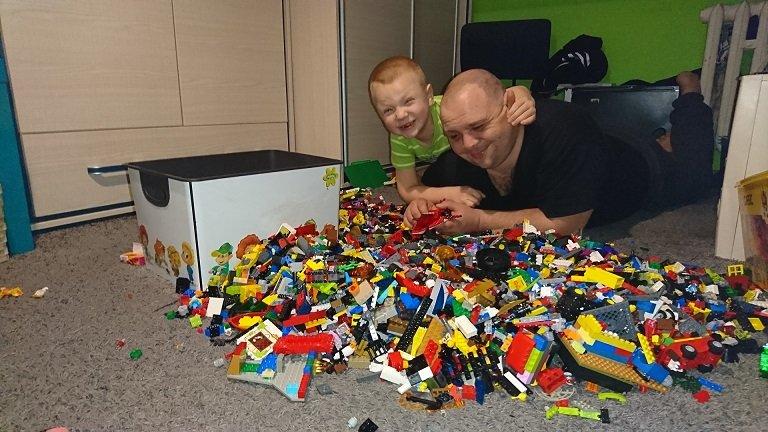 Lego z super tatą