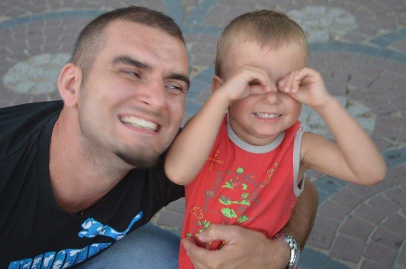 Mikołaj z tatą