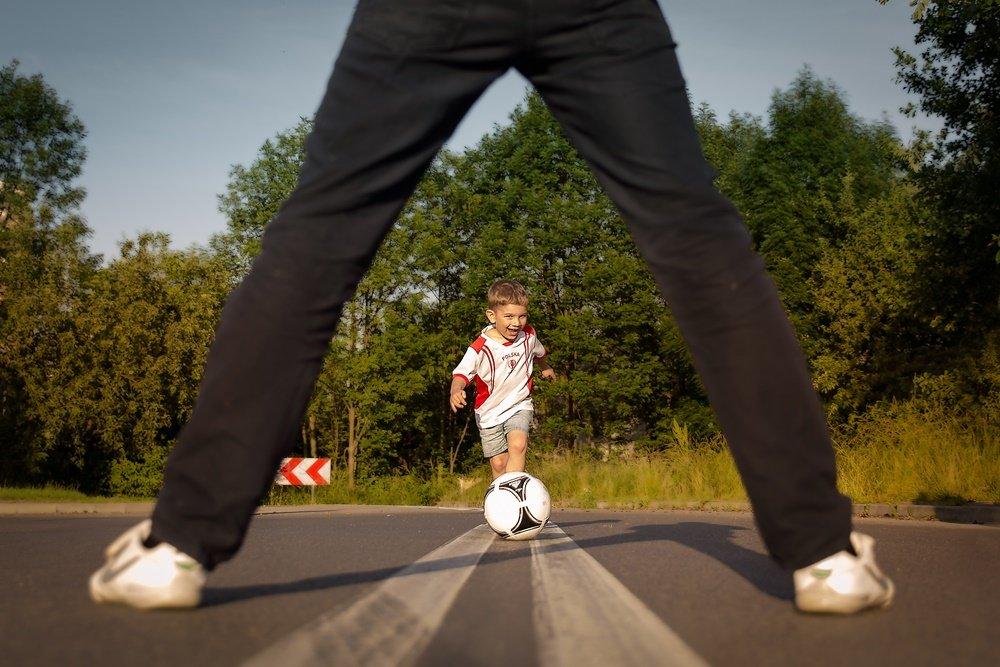 z Tatą zawsze mogę w piłkę grać