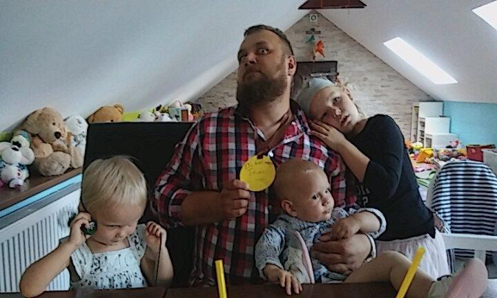Trzy Gracje i Tatus :)